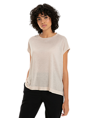 Lightweight Viscose-Linen T-shirt