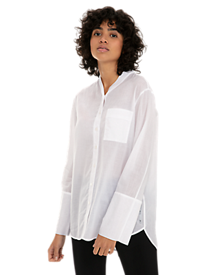 Lightweight Cotton Voile Blouse