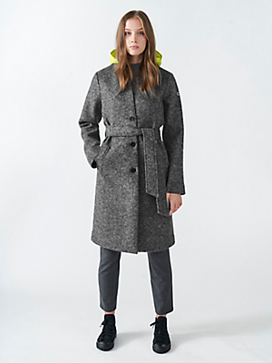 Knee-Length Wool Coat